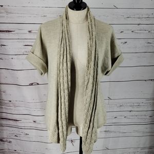 Maurices Tan Drape Short Sleeve duster Cardigan